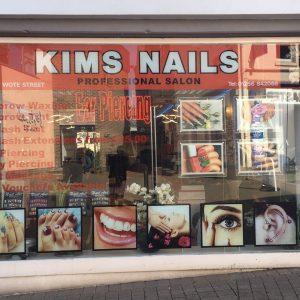 kims nails shop front