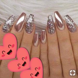 metalic sparkling nail colour