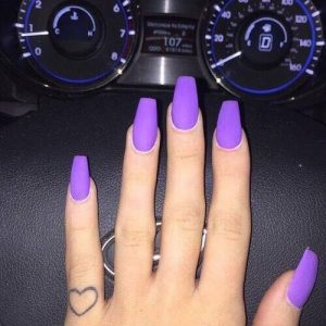 neon purple nail extensions