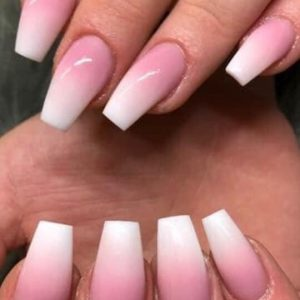 ombre with pale pink background