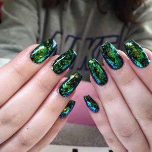 shellac gel 3D nail design